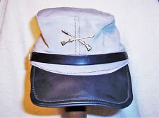 Handmade Leather Reenactment Replica Confederate C.S.A. Kepi Cap Mens Medium Euc
