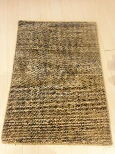 Modern Spectacular Hand Made Area Rug Texture Solid Flat Woven New lemon 2x3