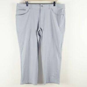 Lululemon ABC Classic Warpstreme Gray Pants Mens Sz 38 x 25 Hemmed Short