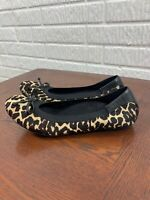 Vionic spark matira calf hair ballet flat leopard cheetah women's size 8.5