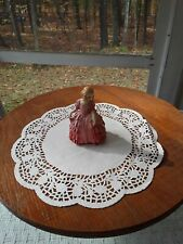 Royal Doulton Figurine Hn-1368 Rose Girl W/Pink Dress Excellent Condition
