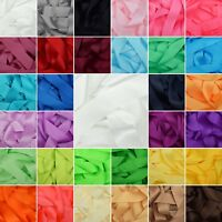 Double Sided Satin Ribbon 1 Metre Cuts 32 Colours 3mm 6mm 10mm 15mm 25mm 38mm