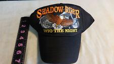 Shadow Rider Into The Night  Motorcycle Cap Hat Black Snapback Eagle