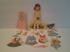 Vtg Marjorie M. Cooper Greeting Card Paper Doll Outfits Used