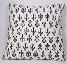 """Luxury  Decorative  Cushion With Print in Black & White 16 x 16"""""""
