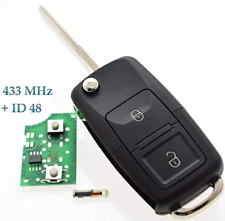 fits VW Seat Skoda 2 button Remote Key Fob1J0959753AG 434Mhz