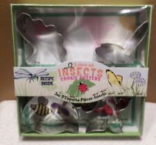 Insect Cookie Cutters 5 pc Set NIP  Fox Run Various Sizes Bee Dragonfly Ladybug
