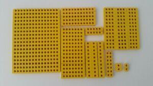 Lego  116x Technik  Lochbalken gelb verschiedene Größen Konvolut