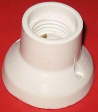 PTL.E27 633 4A Keramik Lampenfassung für Decken- oder Wandmontage gerade weiss