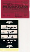 MAGNUM Used Ticket & Guest Pass Berlin 15.09.1994