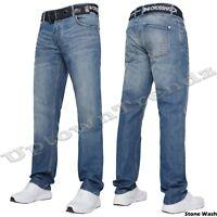 NEUF HOMMES hachuré coupe droite TECHNO bleu foncé jeans tous Tour de taille 28