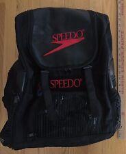 Speedo Backpack Swim Bag Black Zip Up Multiple Compartments Excellent Condition