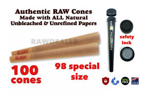 RAW Classic 98 special Size Pre-Rolled Cone W tip(100 Pack)+PHILADELPHIA TUBE