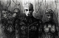 """Pinhead Hellraiser Clive Barker """"The Prince of Pain"""" high quality 11 x 17 poster"""