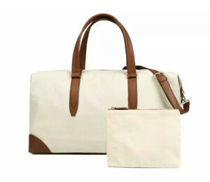 Henny + Lev Canvas Weekender With Pouch RV $179 New