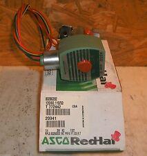 "ASCO RED-HAT 8320G202 STAINLESS STEEL SOLENOID VALVE 1/4"" 3W NC 120V/60HZ 20941"