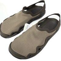 Crocs Men's Size 8 Swiftwater Mesh Wave Sandal Water Shoe Brown New