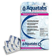 Aqua Tabs Water Purification Tablets - 30-Pack  - expires 10/2020