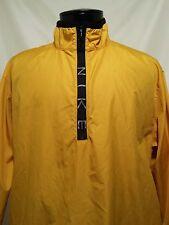 Vintage 90s Nike Windbreaker Jacket Mens Yellow Black 1/4 Zip Pullover Medium