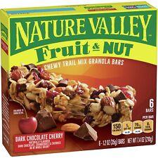 Nature Valley Granola Bars - Dark Chocolate Cherry, Fruit & Nut, 6 ct