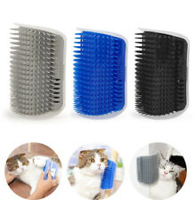 Corner Pet Brush Cat Play Toy Comb Self Grooming Cats Kitten Wall Scratcher