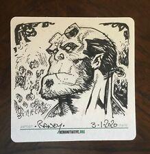 TOM RANEY original HELLBOY sketch on Hero Initiative coaster