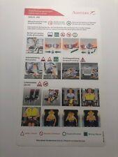 Austrian Airlines Dash 8-400 Safety Card