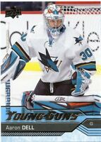 16/17 UPPER DECK YOUNG GUNS ROOKIE RC #478 AARON DELL SHARKS *46541
