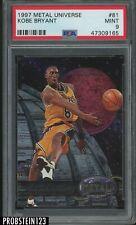 1997-98 Metal Universe #81 Kobe Bryant Los Angeles Lakers HOF PSA 9 MINT