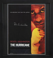 FRAMED RUBIN HURRICANE CARTER SIGNED 24X18 BOXING MOVIE POSTER WITH COA & PROOF