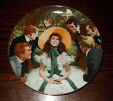 GONE WITH THE WIND COLLECTOR PLATE GOLDEN ANNIVERSARY SERIES SCARLETT & HER SUIT