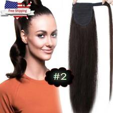 """Hair Ponytail Clip In 100% Real Human Hair Extensions Wrap Around Pony Tail 22"""""""