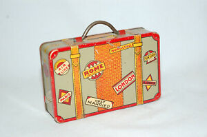 """TIN """"SUITCASE"""" STILL BANK MADE BY LOUIS MAX COMPANY"""