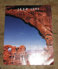 Jeep Sales Brochure 1993 USA Edition