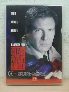 Clear And Present Danger (DVD, 2002) Harrison Ford*terrific Condition