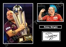 STUNNING PETER WRIGHT DARTS SIGNED / AUTOGRAPHED PRINT