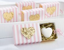 Pink Gold Glitter Heart Soaps Bridal Baby Shower Party Favor Gift Decor MW35065