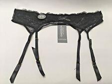 EMERSON INTIMATES 16/18 Black Lace Suspender Nylon Elastane Sexy
