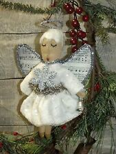 PATTERN ON CD/PRIMITIVE/CHRISTMAS/ANGEL/TREE /ORNAMENT/ORNIE/VINTAGE STYLE/PT126