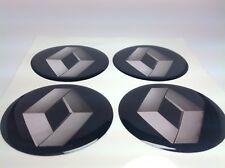 NEW 4pcs Silicone Stickers for Wheel Centre Cap Hubs for RENAULT  - 50mm