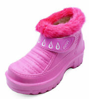 KIDS GIRLS CHILDRENS PINK EVA SPLASH SNOW FLAT RAIN ANKLE BOOTS SHOES SIZES 11-2