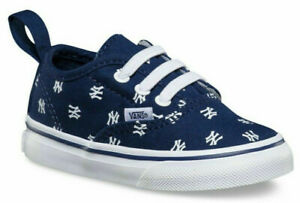 Vans Off The Wall Toddler Baby X New York Yankees Elastic Lace Shoes