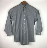 Brooks Brothers 1818 Men's Dress Shirt Sz 16-32 Gray Check Non-Iron Button Down