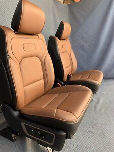 2020, 2019 Dodge Ram 1500 Laramie Longhorn Front and Rear Seats Carmel Leather