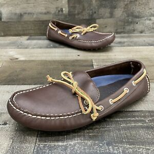 Sperry Top Sider Brown Leather Mens Driving Moccasins Loafers Size 10 M