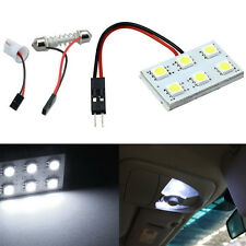 6 SMD 5050 LED T10 BA9S Dome Festoon Car Interior Light Panel Lamp DC12V White