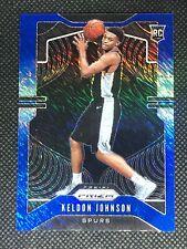 Keldon Johnson 2019-20 Prizm FOTL Blue Shimmer Rookie RC SSP #273 Spurs