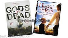 2 DVD Pack - Heaven Is For Real & God's Not Dead BRAND NEW Family Films