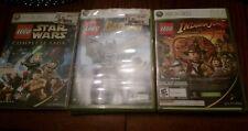 LEGO Batman Video game/Pure, Star Wars Lego& Indiana Jones (Xbox 360)all CIB