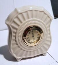 Lenox Clock Quartz Beautiful Clock Porcelain Off-White Housing Made in USA Works